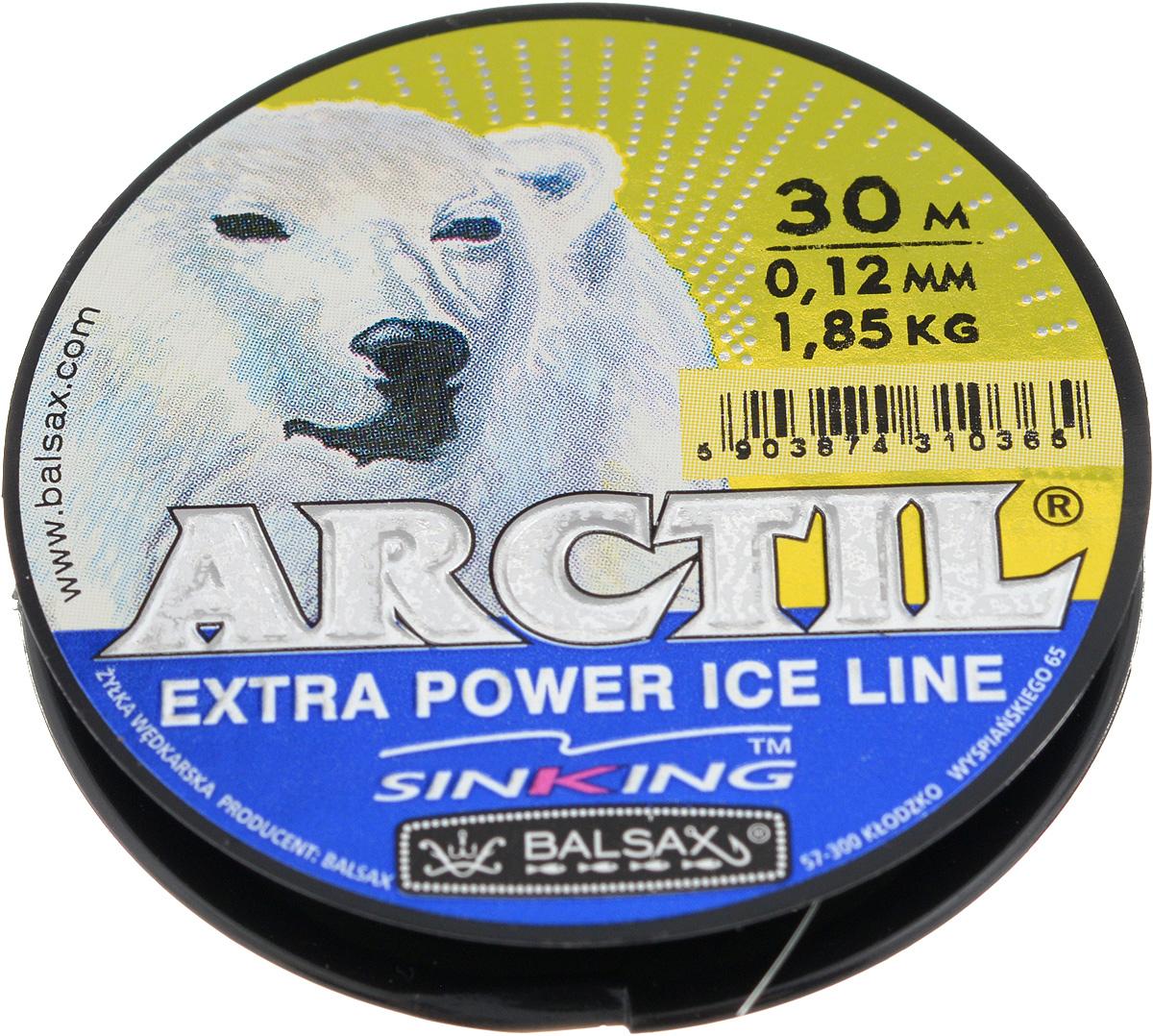 Леска зимняя Balsax Arctil, 30 м, 0,12 мм, 1,85 кг