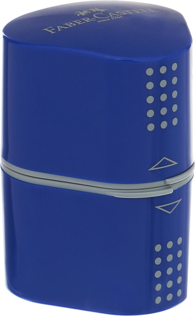 Faber-Castell Точилка Trio Grip 2001 цвет синий183801Точилка Faber-Castell Trio Grip 2001 подходит для стандартных, трехгранных, цветных и толстых карандашей типа Jumbo. Точилка имеет емкость для стружек с обеих сторон.Точилка затачивает карандаши остро, не ломает, ее удобно держать в руках. Легко открывается и плотно защелкивается.Изготовлена точилка из качественных и безопасных материалов.