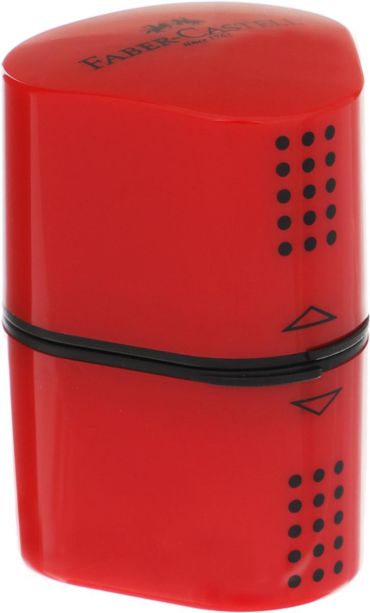 Faber-Castell Точилка Trio Grip 2001 цвет красный183801_красныйТочилка Faber-Castell Trio Grip 2001 подходит для стандартных, трехгранных, цветных и толстых карандашей типа Jumbo. Точилка имеет емкость для стружек с обеих сторон.Точилка затачивает карандаши остро, не ломает, ее удобно держать в руках. Легко открывается и плотно защелкивается.Изготовлена точилка из качественных и безопасных материалов.