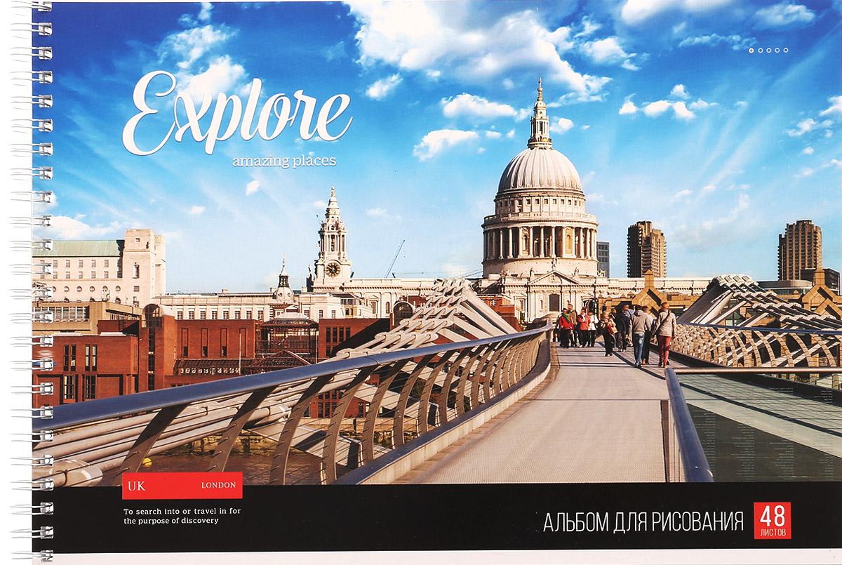 ArtSpace Альбом для рисования Лондон 48 листовА48сп_9197_ЛондонАльбом для рисования ArtSpace Лондон порадует маленького художника и вдохновит его на творчество.Обложка из плотного картона оформлена изображением столицы Англии. Высокое качество бумаги позволяет карандашам, фломастерам и краскам ровно ложиться на поверхность и не растекаться по листу. Способ крепления - металлический гребень. В альбоме 48 листов.Во время рисования совершенствуется ассоциативное, аналитическое и творческое мышления. Занимаясь изобразительным творчеством, ребенок тренирует мелкую моторику рук, становится более усидчивым и спокойным.