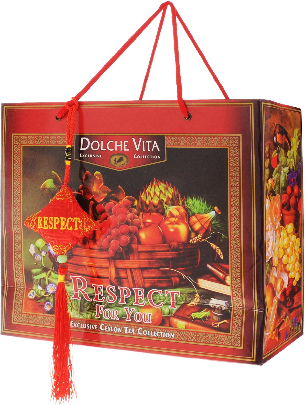 Dolche Vita Respect подарочный набор черного листового чая, 200 г цена и фото
