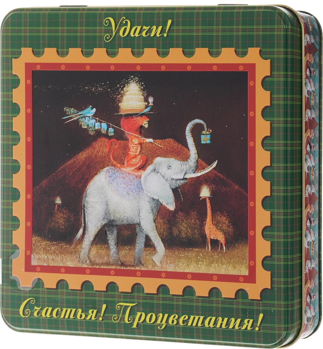 Dolche Vita Слон подарочный набор черного листового чая, 125 г цена и фото
