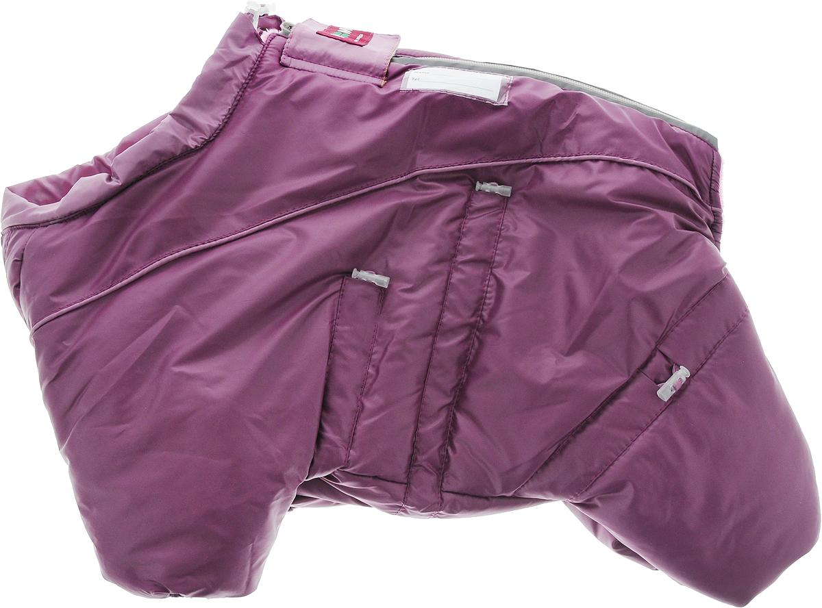 Комбинезон для собак Dogmoda  Doggs , зимний, для девочки, цвет: фиолетовый. Размер S