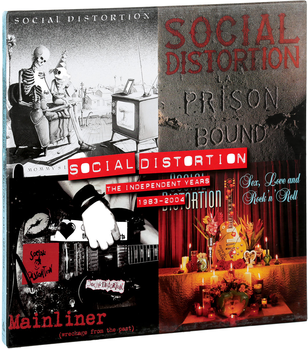 Social Distortion Social Distortion. The Independent Years 1983-2004 (4 LP) mission survival 4 tracks of the tiger