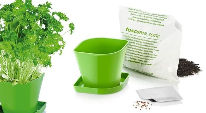 Набор для выращивания пряных растений Tescoma Sense. Петрушка. 899064899064Идеально подходит для выращивания петрушки в вашем доме.Набор содержит семена, органическую почву, горшок и миску.Изделия из износостойкого пластика.Материал: пластик