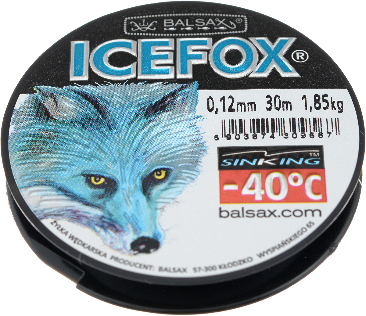Леска зимняя Balsax Ice Fox, 30 м, 0,12 мм, 1,85 кг310-07012Леска Balsax Ice Fox изготовлена из 100% нейлона и очень хорошо выдерживает низкие температуры. Даже в самом холодном климате, при температуре вплоть до -40°C, она сохраняет свои свойства практически без изменений, в то время как традиционные лески становятся менее эластичными и теряют прочность.Поверхность лески обработана таким образом, что она не обмерзает и отлично подходит для подледного лова. Прочна в местах вязки узлов даже при минимальном диаметре.