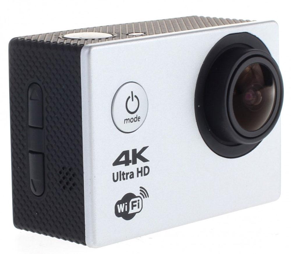 Prolike 4K PLAC001SL, Silver экшн камера6928431230282Экшн-камера Prolike 4K - это маленькая эргономичная видеокамера, созданная специально для спортсменов-экстремалов, мечтающих снять на видео самые яркие моменты своих приключений.Обычная видеокамера не выдерживает сложных условий съемки, скорости, перепадов температур, тогда как экшн-камера Prolike 4K благодаря конструктивным особенностям и техническим характеристикам легко справляется с этими задачами.Важным преимуществом камеры является маленький вес и миниатюрные габариты, способствующие фиксации устройства на теле спортсмена, не стесняя свободы движений. Для установки камеры предусмотрены дополнительные аксессуары и крепления, которыми комплектуется камера.Прочность и надежность при высоких нагрузках обеспечивает влагозащитный и противоударный корпус камеры, а дополнительный защитный аквабокс предназначен для подводных съемок.