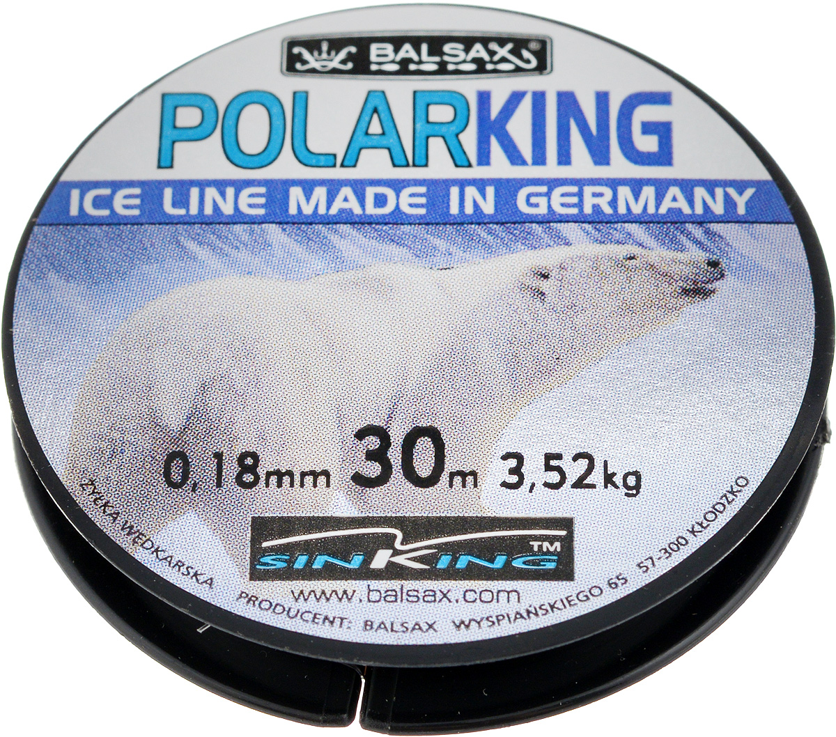 Леска зимняя Balsax Polar King, 30 м, 0,18 мм, 3,52 кг