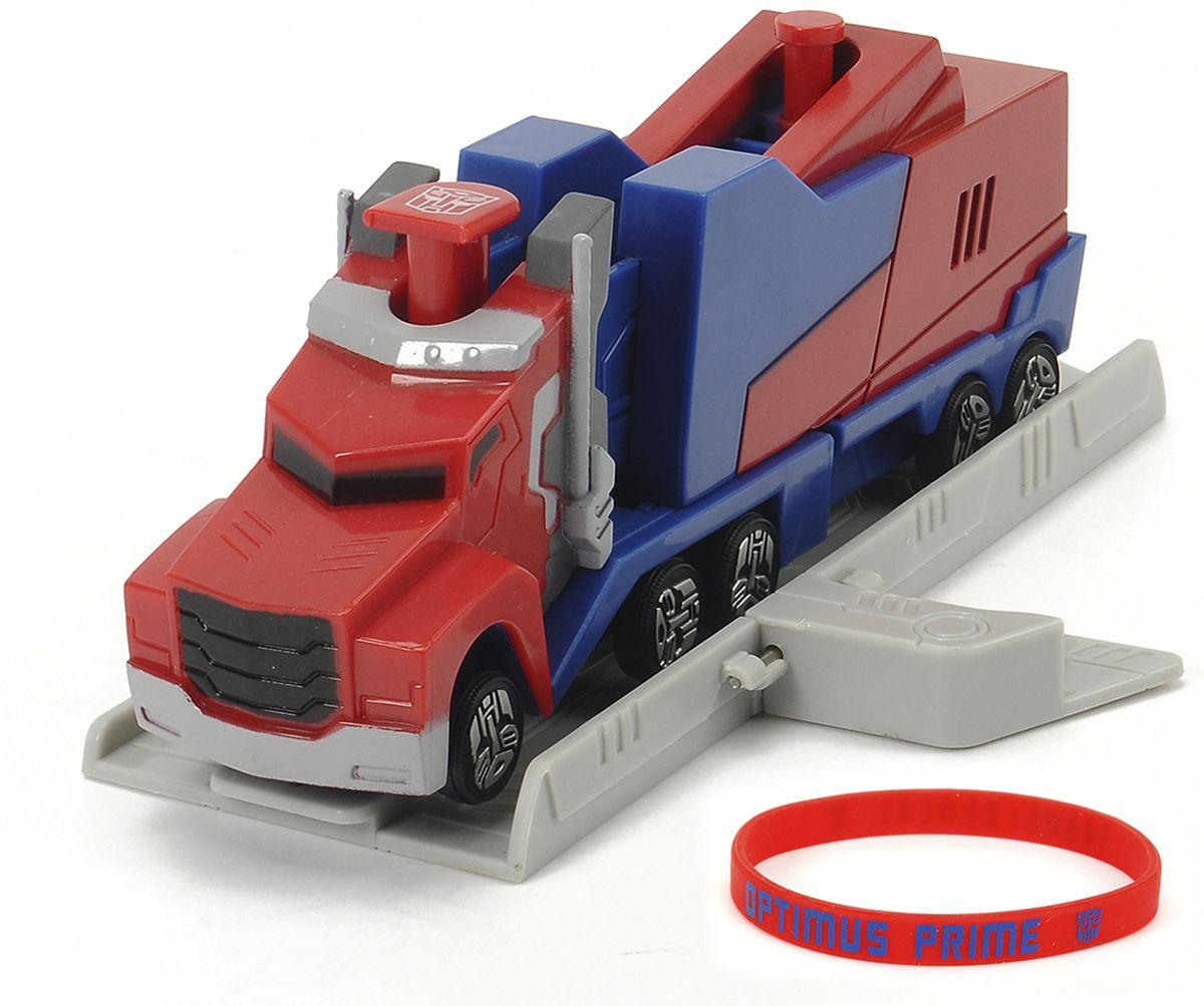 Dickie Toys Машинка Optimus Prime с платформой для запуска simba dickie optimus prime