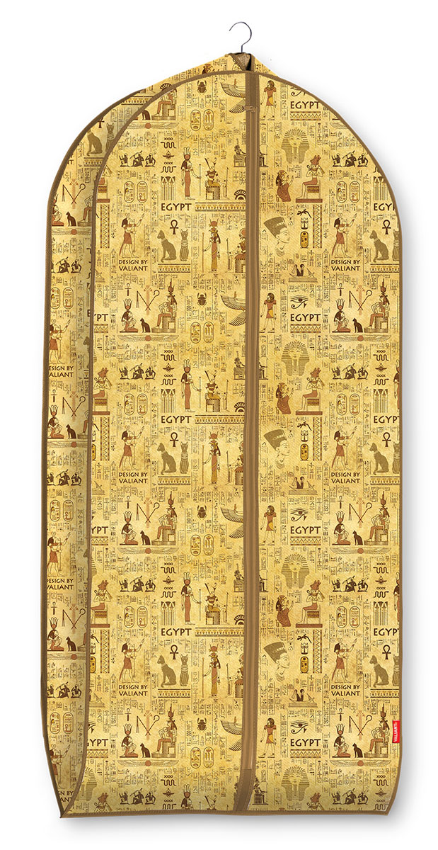 Чехол для одежды Valiant Egypt, объемный, 60 х 137 х 10 см чехол для одежды valiant classic объемный 60 х 100 х 10 см