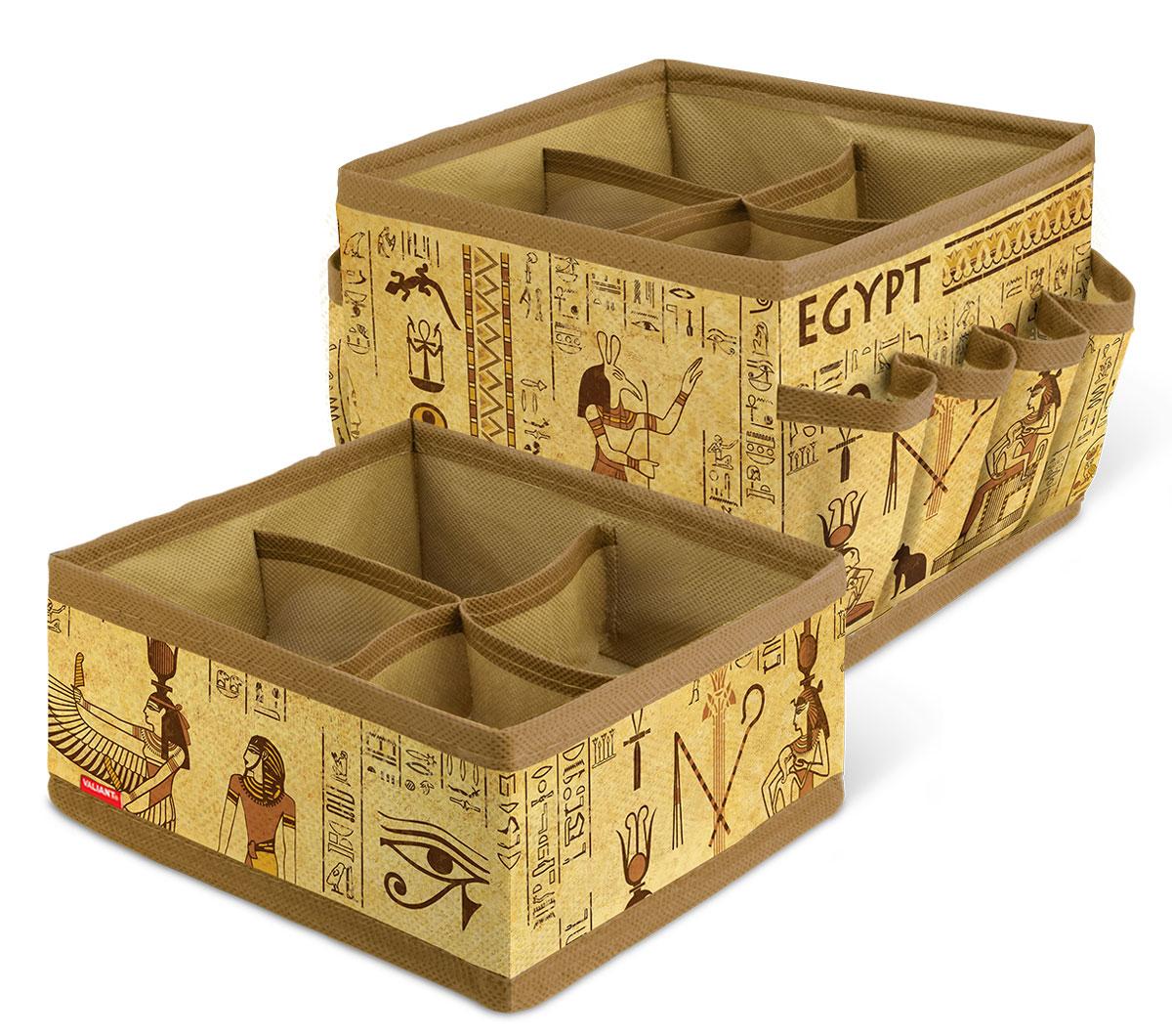 Набор органайзеров для косметики и аксессуаров Valiant Egypt, 2 шт коробки для хранения valiant ящик для хранения egypt 2 шт