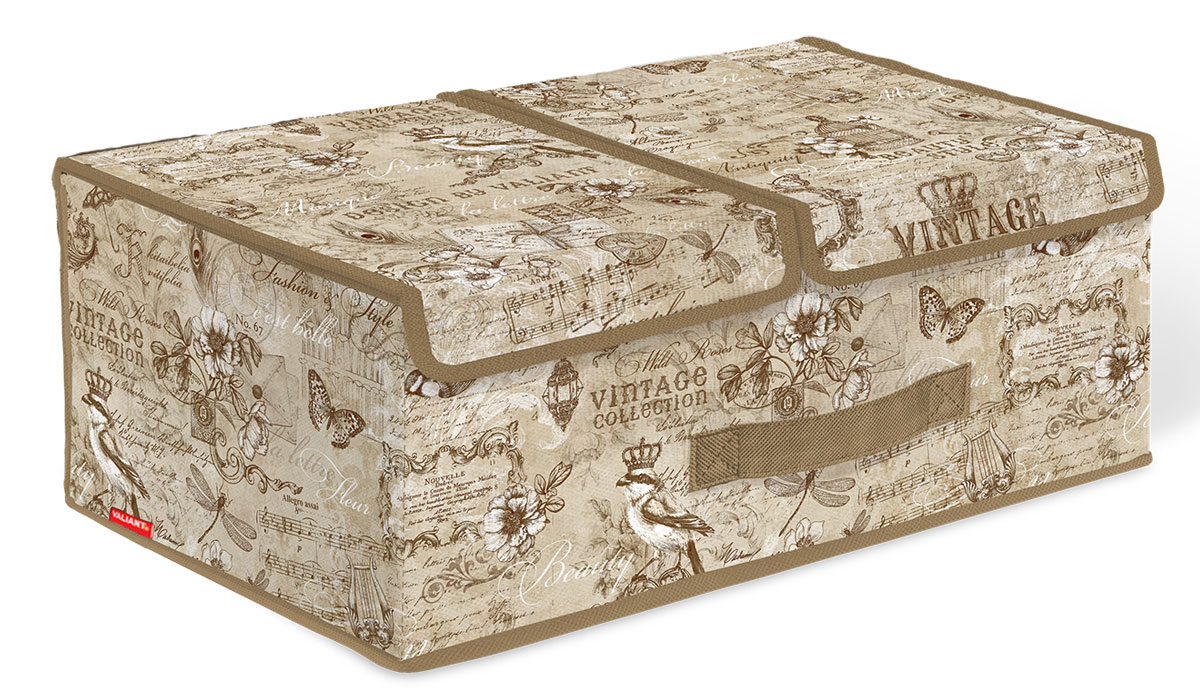 Кофр стеллажный для хранения вещей Valiant Vintage, 2 секции, 50 x 30 x 20 см ваза arwa 20 х 20 х 30 см