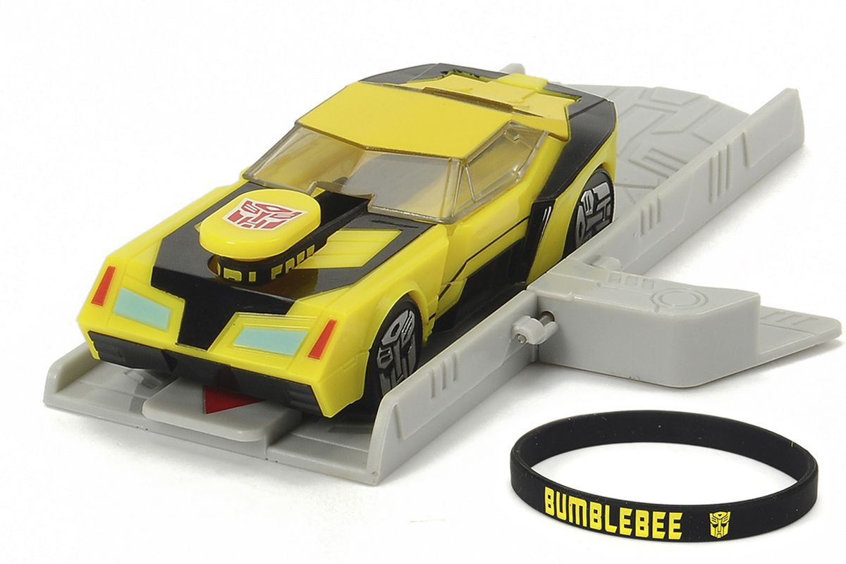 Dickie Toys Машинка Bumblebee с платформой для запуска dickie toys машинка bumblebee tin box