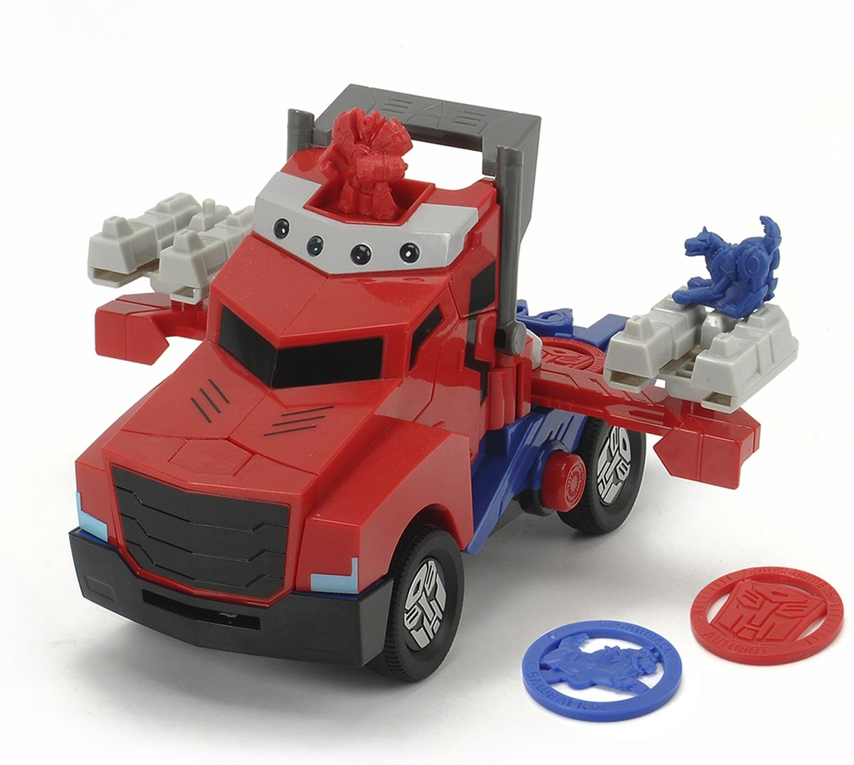Dickie Toys Машинка-трансформер Боевой трейлер Optimus Prime rid dark optimus prime nemesis prime car robot classic toys for boys action figure 12cm with box d0087