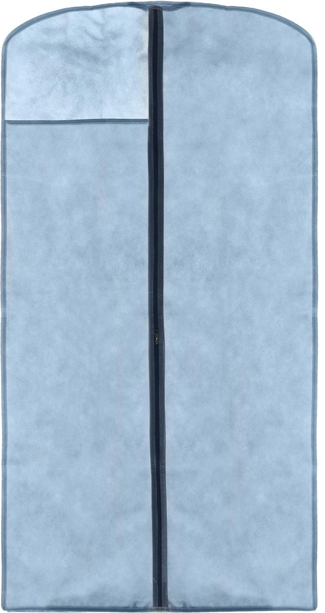 Чехол для одежды LarangE, с окошком, цвет: голубой, 120 х 60 см625-422Чехол для одежды LarangE изготовлен из спанбонда и оснащен застежкой-молнией. Особое строение полотна создает естественную вентиляцию: материал дышит и позволяет воздуху свободно проникать внутрь чехла, не пропуская пыль. Прозрачное окошко позволяет видеть содержимое чехла. Чехол для одежды будет очень полезен при транспортировке вещей на близкие и дальние расстояния, при длительном хранении сезонной одежды, а также при ежедневном хранении вещей из деликатных тканей. Чехол для одежды LarangE защитит ваши вещи от повреждений, пыли, моли, влаги и загрязнений.