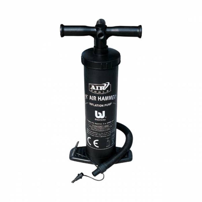 Насос ручной Bestway Air Hammer, 48 см. 6203062030Ручной насос Air Hammer предназначен для накачивания и сдувания надувных вещей и игрушек. Надувает при движении поршня насоса вверх-вниз.Особенности насоса Air Hammer:- объем воздуха: 2 х 2000 см3,- легко переключается с надувания на сдувание, - гибкий шланг,- 3 переходника, подходит практически для любого клапана,- особо прочная конструкция.Длина насоса: 48 см.