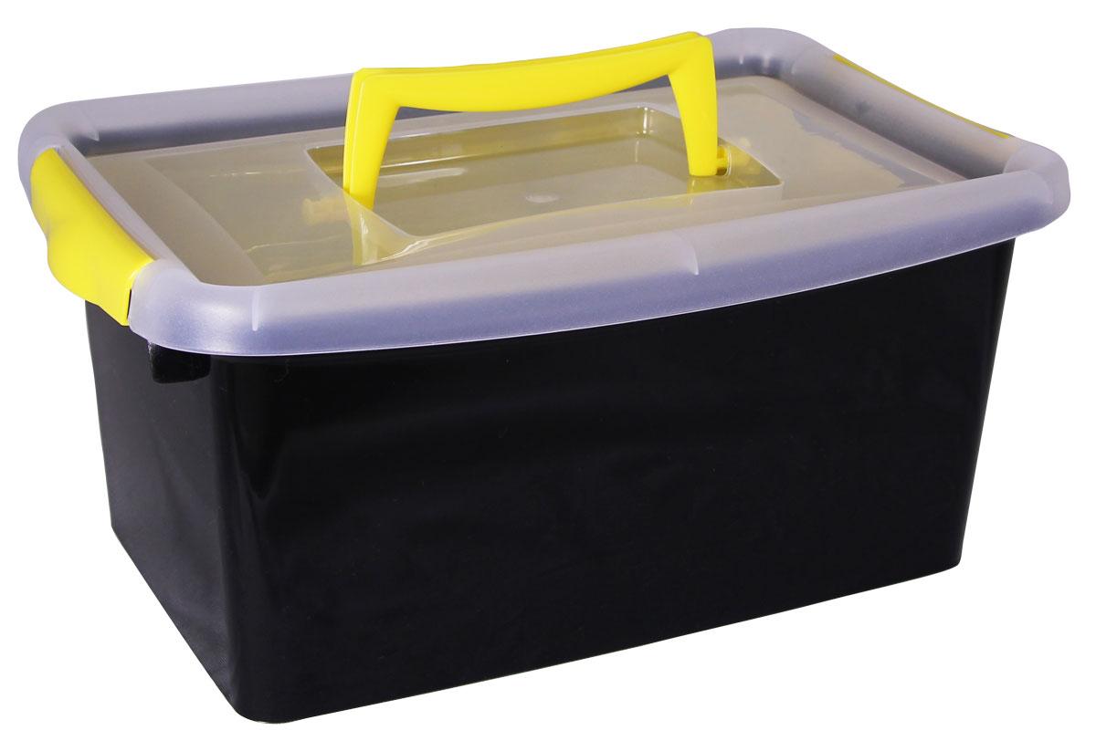 """Контейнер для хранения """"Idea"""" выполнен из высококачественного пластика.  Контейнер снабжен двумя пластиковыми фиксаторами по бокам, придающими  дополнительную надежность закрывания крышки, и вкладышем. Вместительный  контейнер позволит сохранить различные нужные вещи в порядке, а герметичная  крышка предотвратит случайное открывание, защитит содержимое от пыли и  грязи.    Объём контейнера: 4 л.  Размер вкладыша: 24 х 15 см."""