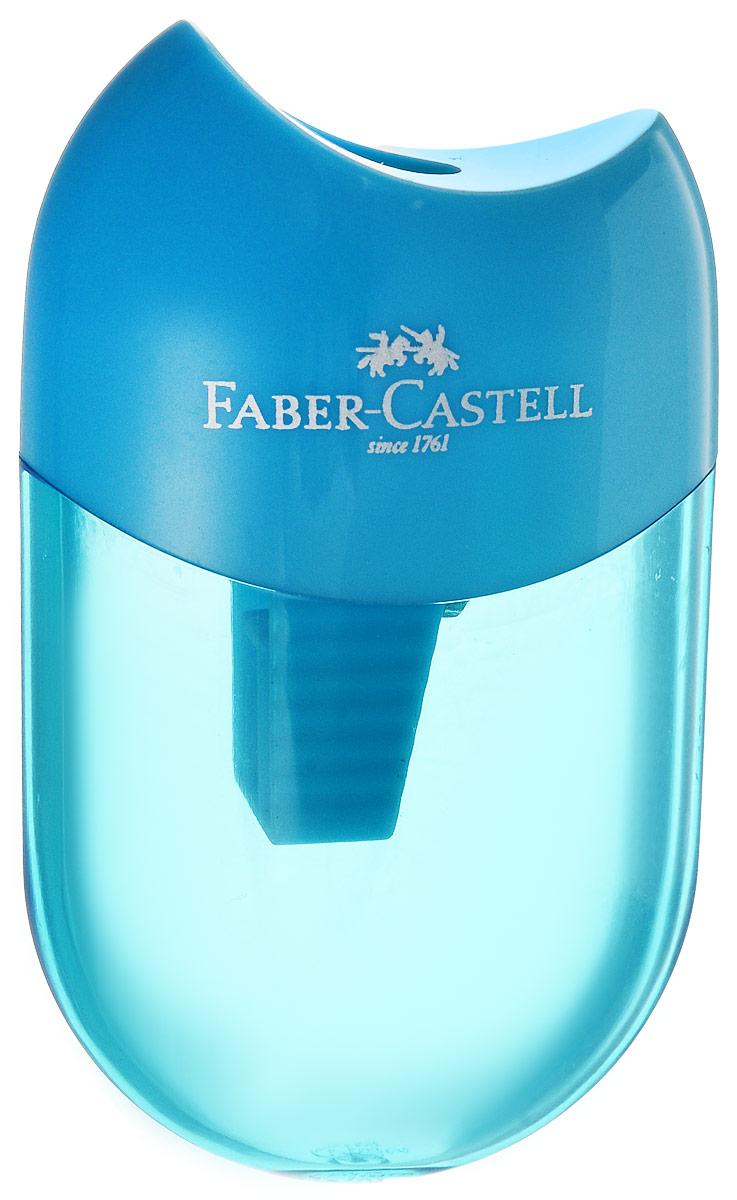 Faber-Castell Точилка-мини с контейнером цвет голубой183512Мини-точилка Faber-Castell выполнена из прочного пластика.В точилке имеется одно отверстие для классических, трехгранных, простых и цветных карандашей.Эргономичная форма контейнера обеспечивает стабильное положение кисти.Карандаш затачивается легко и аккуратно, а опилки после заточки остаются в специальном контейнереповышенной вместимости.