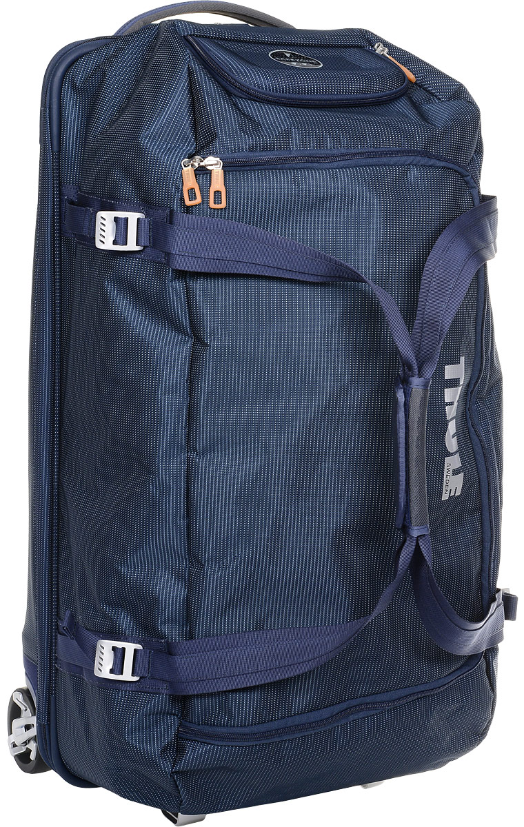 Сумка багажная Thule Crossover Rolling Duffel, на колесах, цвет: темно-синий, 87 л