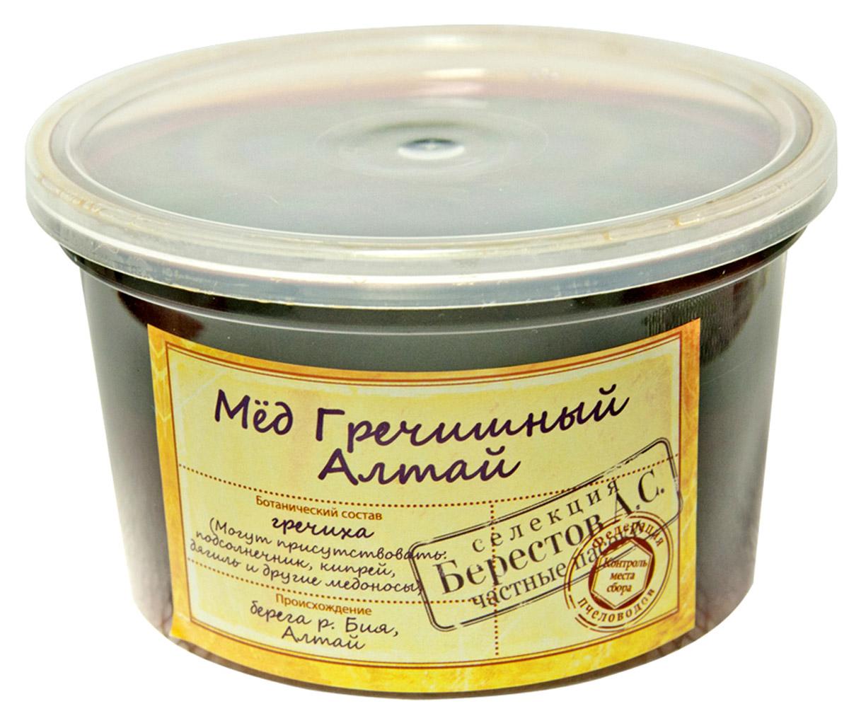 Берестов Мед Гречишный, 360 го0000003498Это ароматный, с лёгкой горчинкой мёд, содержащий гораздо больше железа по сравнению с другими сортами, что делает его особенно ценным.Гречишный мед - это роскошный терпкий мёд с легким коньячным послевкусием. Горный воздух Алтая и редчайшие целебные медоносы дарят мёду поистине чарующий букет корицы, грецкого ореха и чернослива с нотками карамели, муската и едва уловимым оттенком тмина.Лечебные свойства:Гречишный мед содержит больше количество белков и минеральных веществ, особенно железа. Рекомендуется при авитаминозах, гипертонии, при кровоизлияниях в мозг и сетчатку глаза.Сезонная коллекция меда Берестов. Мед контролируемого места происхождения. В состав линейки включается расширенный ассортимент, в том числе редких сортов. Коллекция Мед с частных пасек получила свое распространение на сезонных фестивалях и ярмарках.В коллекции представлена широкая гамма медов с частных пасек Алтайского края, Башкортостана, Хабаровского края, Краснодарского края, Украины, Киргизии, Средней полосы России. Редкие сорта меда представляются только на фестивалях и ярмарках ввиду того что собираемых пчеловодами объемов недостаточно для продажи их в течение всего года. Упаковка меда ведется холодным методом сохраняющим 100% биологических свойств продукта. Упаковка производится на Берестовской фабрике натуральных продуктов сертифицированной по стандарту менеджмента качества ISO.Целебные сорта мёда. Статья OZON Гид