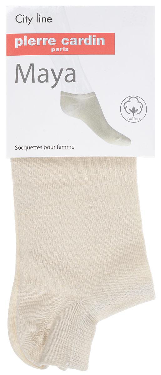 Носки женские Pierre Cardin Maya, цвет: Beige (бежевый). Размер 4 (38/40)Cr MayaУдобные укороченные носки Pierre Cardin Maya, изготовленные из высококачественного комбинированного материала, идеально подойдут для п. Благодаря содержанию мягкого хлопка в составе, кожа сможет дышать, а спандекс позволяет носочкам легко тянуться, что делает их комфортными в носке. Эластичная резинка плотно облегает ногу, не сдавливая ее, обеспечивая комфорт и удобство. Практичные и комфортные носки с укрепленным мыском и пяткой великолепно подойдут к вашей повседневной обуви.