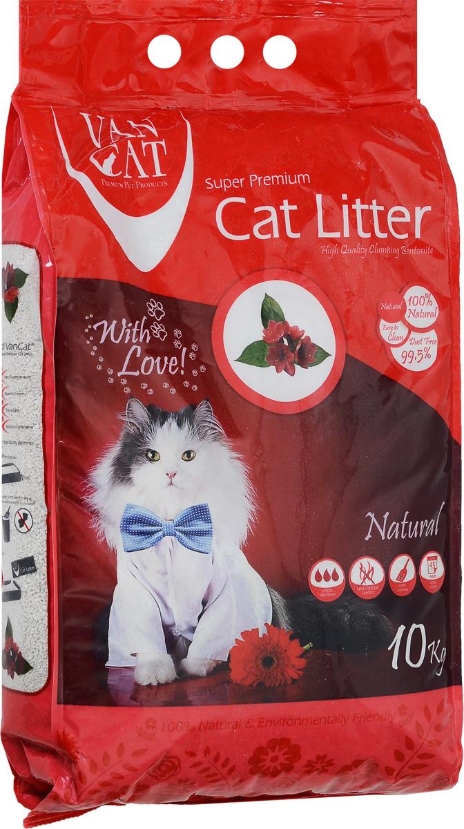 Наполнитель для кошачьих туалетов Van Cat Натуральный, комкующийся, без пыли, 10 кг наполнитель для кошачьих туалетов sepicat fresh комкующийся облегченный классический 10 л