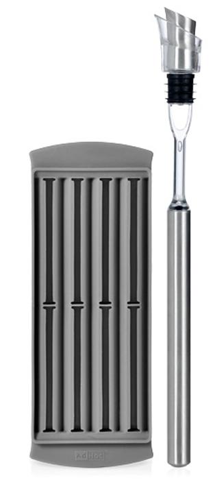 Многофункциональная воронка для вина AdHoc Icepour, 6 функций010.060200.017Многофункциональная воронка для вина AdHoc - практичный и нужный предмет декора. Можно применять в качестве пробки, охладителя, каплеуловителя, аэратора и конечно в качестве воронки. Изготовлена из высококачественных материалов - нержавеющей стали, пластика и акрила. Прекрасный и необычный подарок.