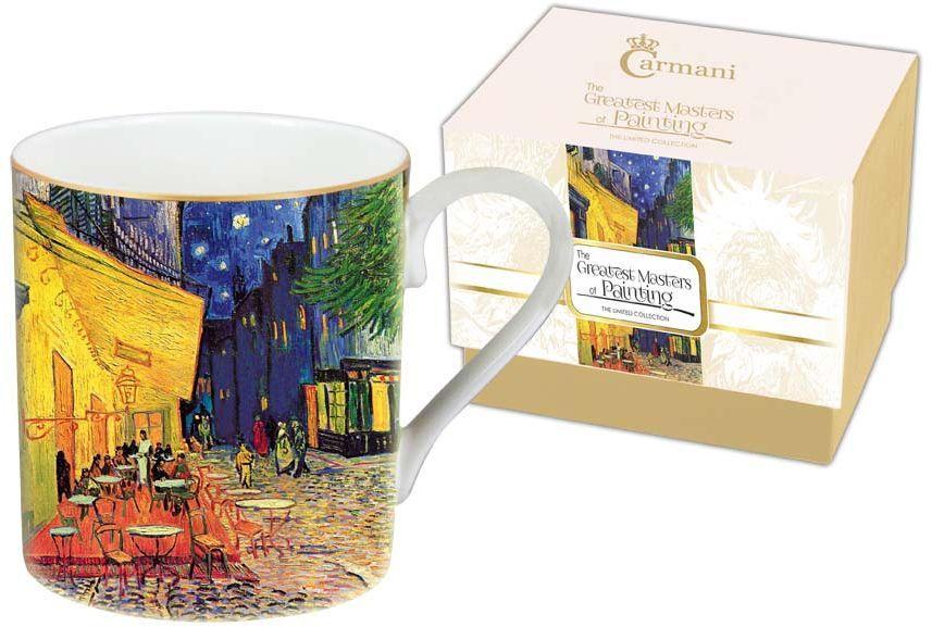 """Кружка Carmani """"Ночная терраса кафе"""", изготовленная из высококачественной костяного фарфора, сочетает в себе элегантный дизайн с максимальной функциональностью. Изделие оформлено ярким изображением и имеет изысканный внешний вид. Такая кружка станет оригинальным подарком для вас и ваших близких."""