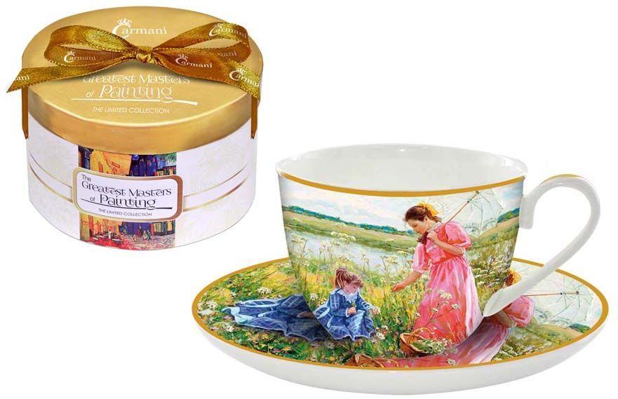 Чайная пара Carmani На лугу, 2 предметаCAR2-045-0300-ALЧайная пара Carmani На лугу состоит из чашки и блюдца, изготовленных из высококачественного костяного фарфора. Яркий дизайн изделий, несомненно, придется вам по вкусу.Чайная пара Carmani На лугу украсит ваш кухонный стол, а также станет замечательным подарком к любому празднику.Объем чашки: 250 мл.