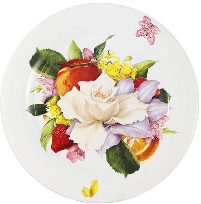 Тарелка обеденная Ceramiche Viva Фреско, диаметр 29 см. CV2-T01-07048-ALCV2-T01-07048-ALТарелка обеденная Фреско выполнена из керамики с глазурованным покрытием. Керамическая посуда итальянской фабрики Ceramiche Viva известна не только своим превосходным качеством, но и удивительными, неповторимыми дизайнами, отличающими ее от любой другой керамической посуды. Помимо внешней привлекательности посуда Ceramiche Viva обладает и прекрасными практическими свойствами: посуду Ceramiche Viva можно мыть в посудомоечной машине и использовать в микроволновой печи. Не разрешается применять при мытье посуды абразивные порошки.