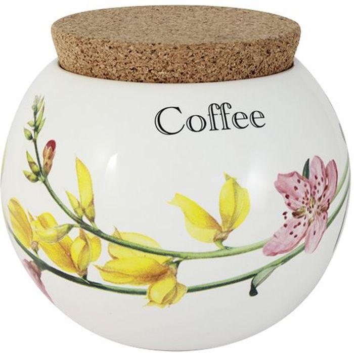 Банка для кофе Ceramiche Viva Фреско, 650 млCV2-T08-98048-ALБанка для кофе Ceramiche Viva Фреско изготовлена из высококачественной керамики. Нанесение сверкающей глазури, не содержащей свинца, придает посуде превосходный блеск и особую прочность. Изделие снабжено пробковой крышкой, которая позволит сохранить вкус и аромат кофе, предотвратит попадание влаги и грязи. Внешние стенки изделия украшены цветочным рисунком и надписью Coffee.Такая банка красиво дополнит интерьер кухни и станет практичным приобретением.Изделие можно мыть в посудомоечной машине и использовать в микроволновой печи. Не разрешается применять при мытье посуды абразивные порошки.