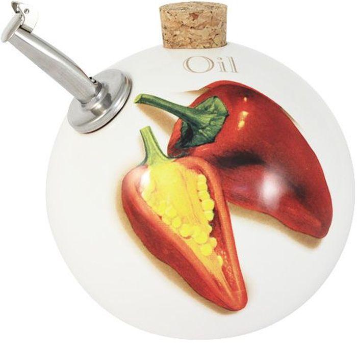 """Круглая бутылка для масла """"Перец чили"""" выполнена из керамики и оснащена пробкой. Керамическая посуда итальянской фабрики """"Ceramiche Viva"""" известна не только своим превосходным качеством, но и удивительными, неповторимыми дизайнами, отличающими ее от любой другой керамической посуды. Помимо внешней привлекательности посуда """"Ceramiche Viva"""" обладает и прекрасными практическими свойствами: посуду """"Ceramiche Viva"""" можно мыть в посудомоечной машине и использовать в микроволновой печи. Не разрешается применять при мытье посуды абразивные порошки. Поверхность изделий покрыта высококачественной глазурью, не содержащей свинца."""