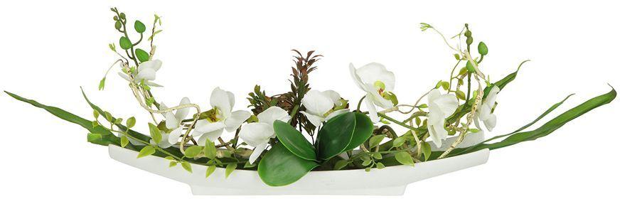 Декоративные цветы Dream Garden Орхидея белая, на подставке, 55х11х24см. DG-15004-ALDG-15004-ALДекор.цветы Орхидея белая на керам.подставке 55х11х24смТорговая марка Dream Garden, Китай.Композиции из искусственных цветов долговечны, не требуют ежедневного ухода, выполнены из натуральных шелка и текстиля, прошедших специальную обработку высококачественными современными материалами. Искусственные цветы максимально приближены к натуральным, не пахнут, что исключает все аллергические реакции.