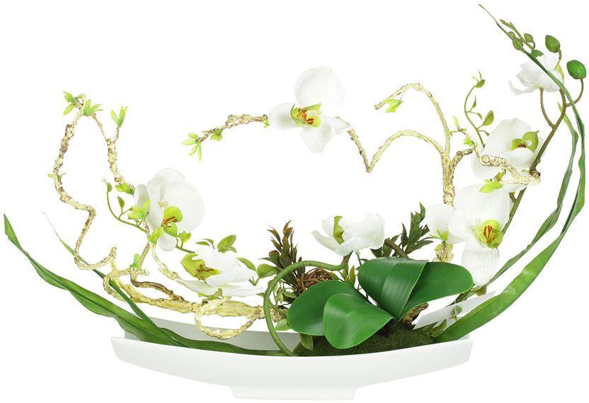 Декоративные цветы Dream Garden Орхидея белая, на подставке, 38х14х31см. DG-15006-ALDG-15006-ALДекор.цветы Орхидея белая на керам подставке 38х14х31смТорговая марка Dream Garden, Китай.Композиции из искусственных цветов долговечны, не требуют ежедневного ухода, выполнены из натуральных шелка и текстиля, прошедших специальную обработку высококачественными современными материалами. Искусственные цветы максимально приближены к натуральным, не пахнут, что исключает все аллергические реакции.