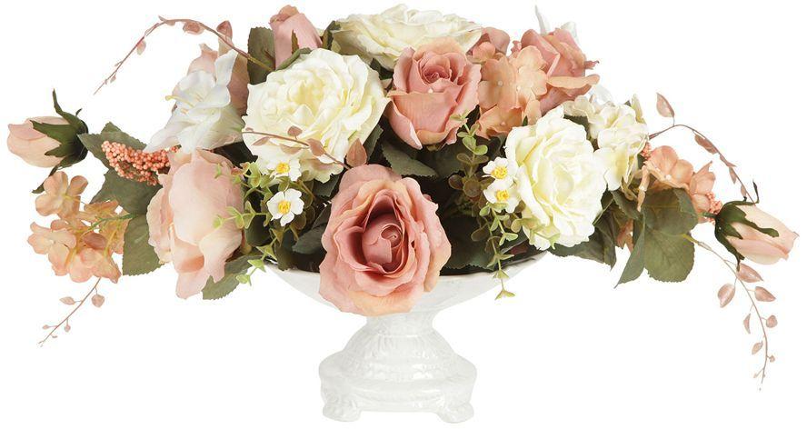 Декоративные цветы Dream Garden Розы и лилии, в вазе, 28х28х32см. DG-15145-ALDG-15145-ALДекор.цветы Розы и лилиив керам.вазе 28х28х32смТорговая марка Dream Garden, Китай.Композиции из искусственных цветов долговечны, не требуют ежедневного ухода, выполнены из натуральных шелка и текстиля, прошедших специальную обработку высококачественными современными материалами. Искусственные цветы максимально приближены к натуральным, не пахнут, что исключает все аллергические реакции.