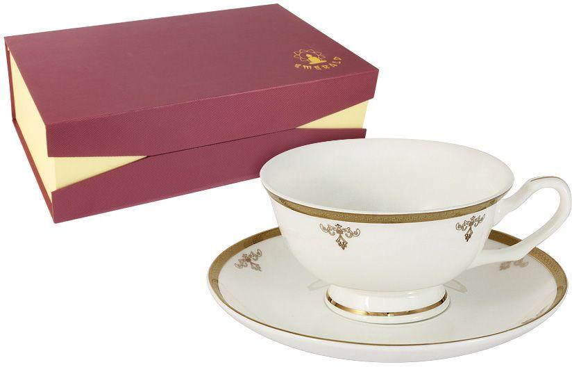 Набор чайный Emerald Ампир, 12 предметов. E5-09-24/12-ALE5-09-24/12-ALНабор чайный Emerald Ампир состоит из 6 чашек и 6 блюдец, выполненных из высококачественного фарфора. Набор оформлен стильным рисунком. Благодаря высокому качеству исполнения, разнообразным декорам и оптимальному соотношению цена - качество, посуда Emerald завоевала огромную популярность у покупателей и пользуется неизменно высоким спросом. Поверхность изделий покрыта превосходной сверкающей глазурью, не содержащей свинца.Чайный набор Emerald - идеальный и необходимый подарок для вашего дома и для ваших друзей в праздники.
