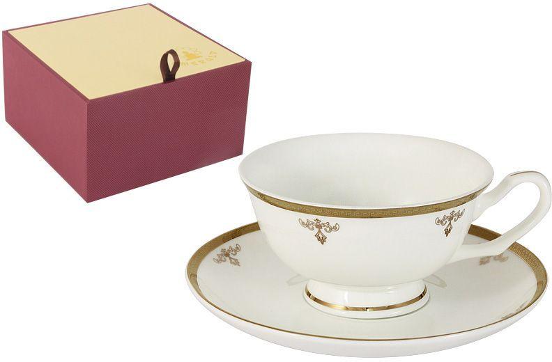 Чайная пара Emerald Ампир, 2 предметаE5-09-24/CS-ALЧайная пара Emerald Ампир состоит из чашки и блюдца, изготовленных из высококачественного костяного фарфора. Яркий дизайн изделий, несомненно, придется вам по вкусу.Чайная пара Emerald Ампир украсит ваш кухонный стол, а также станет замечательным подарком к любому празднику.Объем чашки: 200 мл.