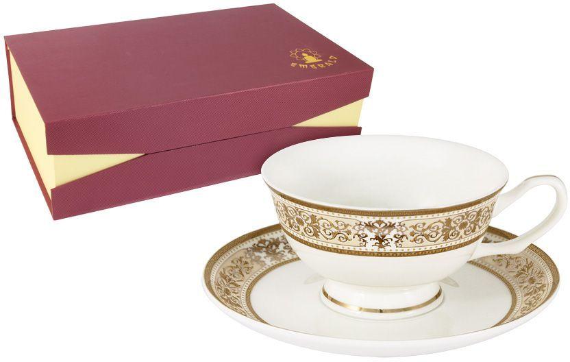 Набор чайный Emerald Шарлотта, 12 предметов. E5-14-604/12-ALE5-14-604/12-ALНабор чайный Emerald Шарлотта состоит из 6 чашек и 6 блюдец, выполненных из высококачественного фарфора. Набор оформлен стильным рисунком. Благодаря высокому качеству исполнения, разнообразным декорам и оптимальному соотношению цена - качество, посуда Emerald завоевала огромную популярность у покупателей и пользуется неизменно высоким спросом. Поверхность изделий покрыта превосходной сверкающей глазурью, не содержащей свинца.Чайный набор Emerald - идеальный и необходимый подарок для вашего дома и для ваших друзей в праздники.