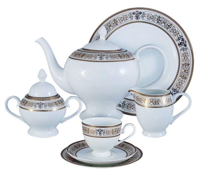 Чайный сервиз Emerald Шарлотта, 40 предметов, 12 персон. E5-14-604/40-AL чайный сервиз emerald розовые цветы из 40 ка предметов e5 hv004011 40 al