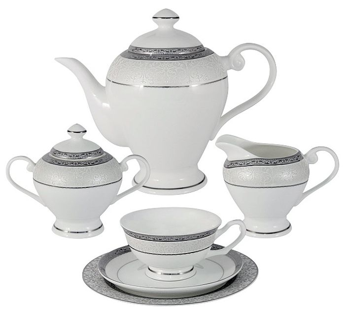 Чайный сервиз Emerald Бостон, 21 предмет, 6 персон. E5-16-908/21-AL сервиз набор emerald чайный сервиз петергоф 21 предмет на 6 персон e5 16 41 21 al