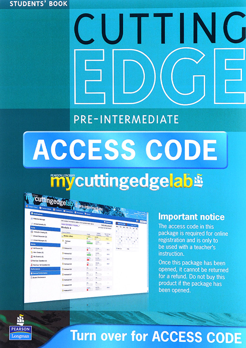 Cutting Edge: Pre-Intermediate: Student's Book with Mini-dictionary (+ CD-ROM) new cutting edge pre intermediate students book with mini dictionary cd rom