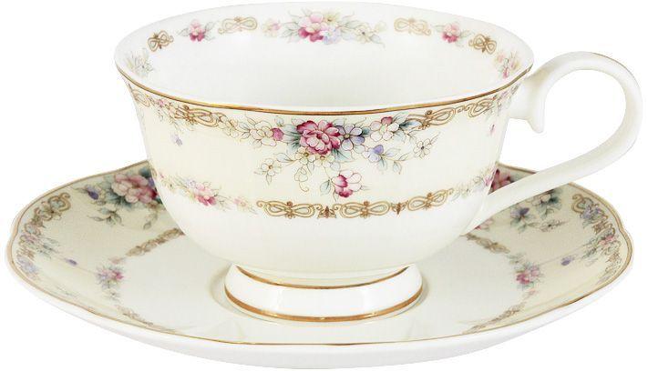 Чашка с блюдцем Emily Сан Марино, 0,2 л. E9-M1744/CS-AL anna lafarg emily набор чашек сан марино 6шт