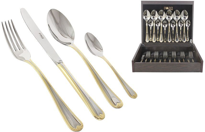 Набор столовых приборов Face Santorini Gold, 24 предмета, 6 персон. F-SANG/24-AL