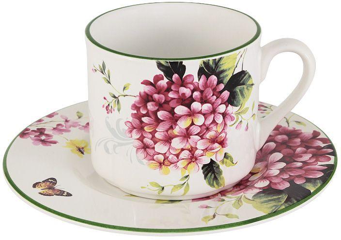 Чайная пара Imari Цветы и птицыIM15018E-A2210ALЧайная пара Цветы и птицы состоит из чашки и блюдце. Изделия выполнены из высококачественной керамики, основным ингредиентом которой является твердый доломит. Изделия легкие, белоснежные, прочные и устойчивые к высоким температурам. Нанесение сверкающей глазури, не содержащей свинца, придает посуде превосходный блеск и особую прочность. Такой набор идеально подойдет для сервировки стола к чаепитию. Он станет практичным приобретением для кухни и подчеркнет ваш прекрасный вкус. Высокое качество исходного сырья и глазури позволяет мыть изделия в посудомоечной машине. Объем чашки: 250 мл.