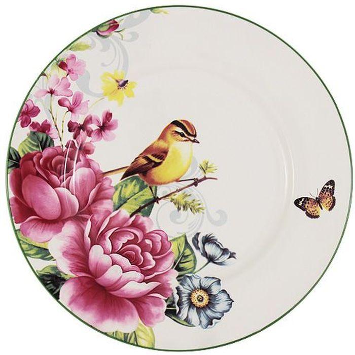 Тарелка Imari Цветы и птицы, диаметр 23 смIM35031-A2210ALТарелка Imari Цветы и птицы изготовлена из высококачественной керамики и декорирована ярким рисунком. Нанесение сверкающей глазури, не содержащей свинца, придает изделию превосходный блеск и особую прочность. Изделие предназначено для подачи вторых блюд или десертов. Тарелка отлично подойдет как для повседневного использования, так и для особых случаев. Благодаря качеству исполнения и красивому дизайну изделие станет отличным приобретением для вашей кухни.