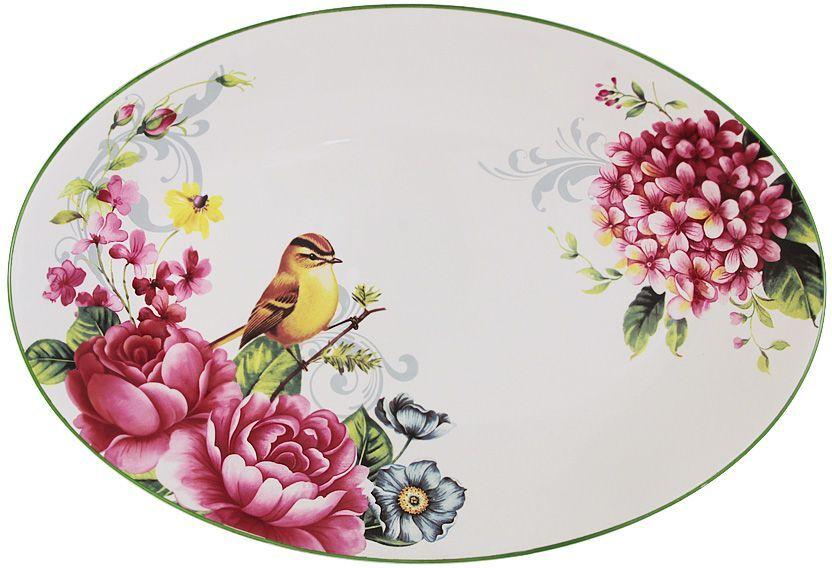 """Блюдо Imari """"Цветы и птицы"""", овальное, 38 х 26 см"""