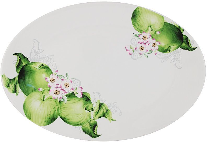 """Блюдо Imari """"Зеленые яблоки"""", овальное, 38 х 26 см. IMC1185-A2211AL"""