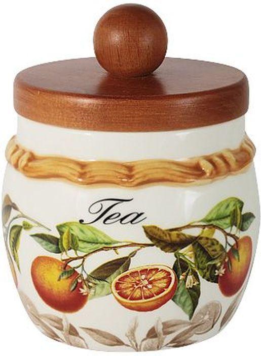 Банка для чая LCS Апельсины, с деревянной крышкой, 0,5 л. LCS010/PLT-AR-ALLCS010/PLT-AR-ALБанка для сыпучих продуктов с деревянной крышкой 0,5 л (чай) АпельсиныLCS - молодая, динамично развивающаяся итальянская компания из Флоренции, производящая разнообразную керамическую посуду и изделия для украшения интерьера.В своих дизайнах LCS использует как классические, так и современные тенденции.Высокий стандарт изделий обеспечивается за счет соединения высоко технологичного производства и использования ручной работы профессиональных дизайнеров и художников, работающих на фабрике.
