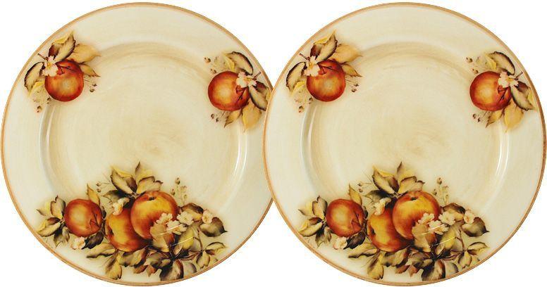Тарелка десертная LCS Зимние яблоки, диаметр 20,5 см, 2 шт. LCS353/2/PF-M-ALLCS353/2/PF-M-ALНабор LCS Зимние яблоки состоит из двух десертных тарелок, выполненных из высококачественной керамики. Изделия оформлены изящным цветочным рисунком. Края тарелок рельефные. Изящные тарелки прекрасно оформят праздничный стол и порадуют ваших гостей изысканным дизайном и формой.