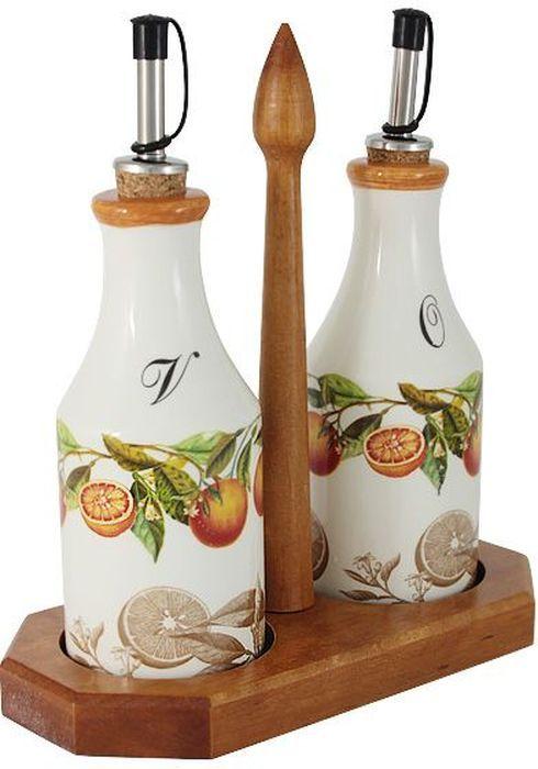 Набор бутылок для масла и уксуса LCS Апельсины, на подставке, 0,275 л. LCS872L-AR-ALLCS872L-AR-ALНабор из 2-х бутылок для масла и уксуса на подставке 0,275 л Апельсины.LCS - молодая, динамично развивающаяся итальянская компания из Флоренции, производящая разнообразную керамическую посуду и изделия для украшения интерьера. В своих дизайнах LCS использует как классические, так и современные тенденции. Высокий стандарт изделий обеспечивается за счет соединения высоко технологичного производства и использования ручной работы профессиональных дизайнеров и художников, работающих на фабрике.